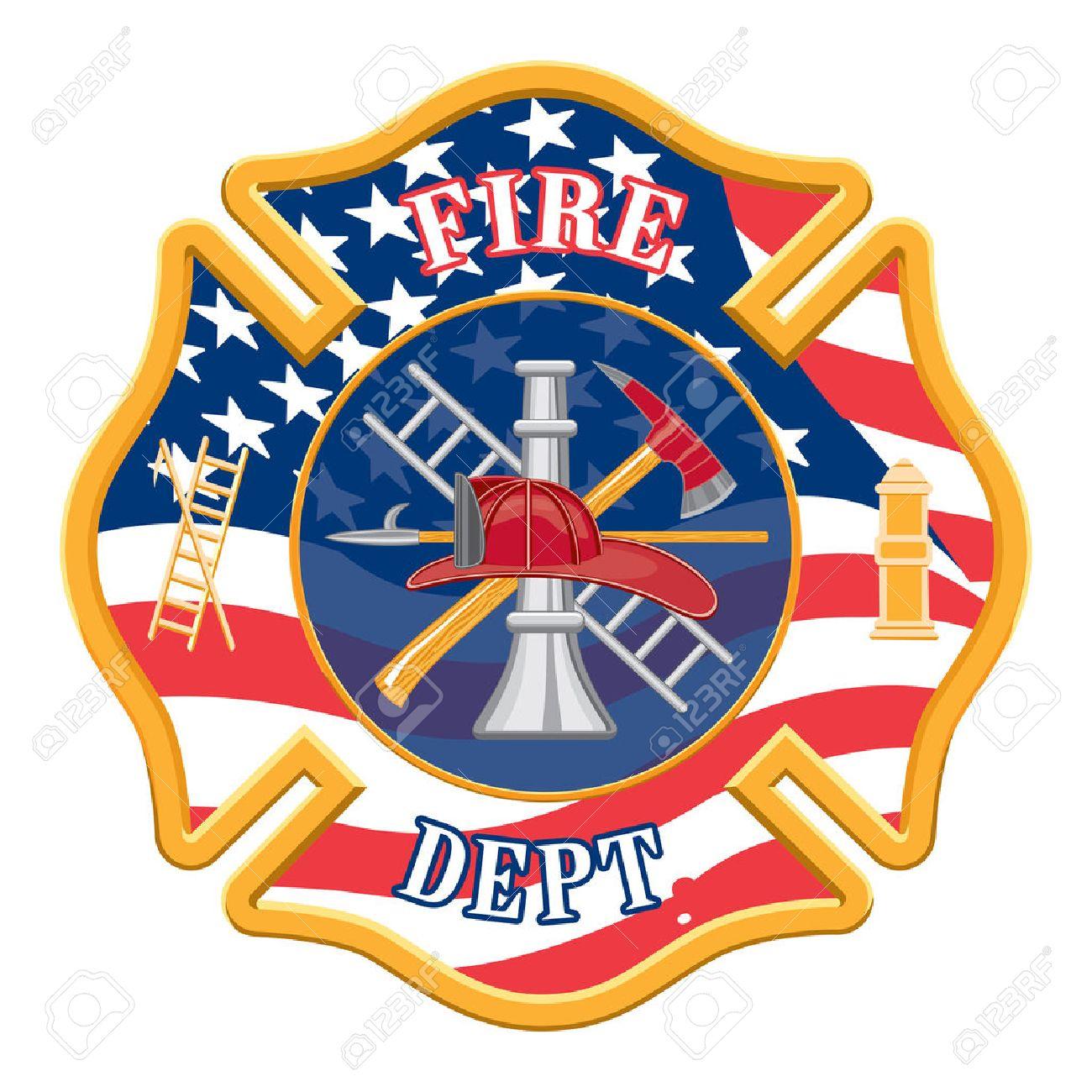 Fire Department Cross Is An Illustration Of A Fire Department ...