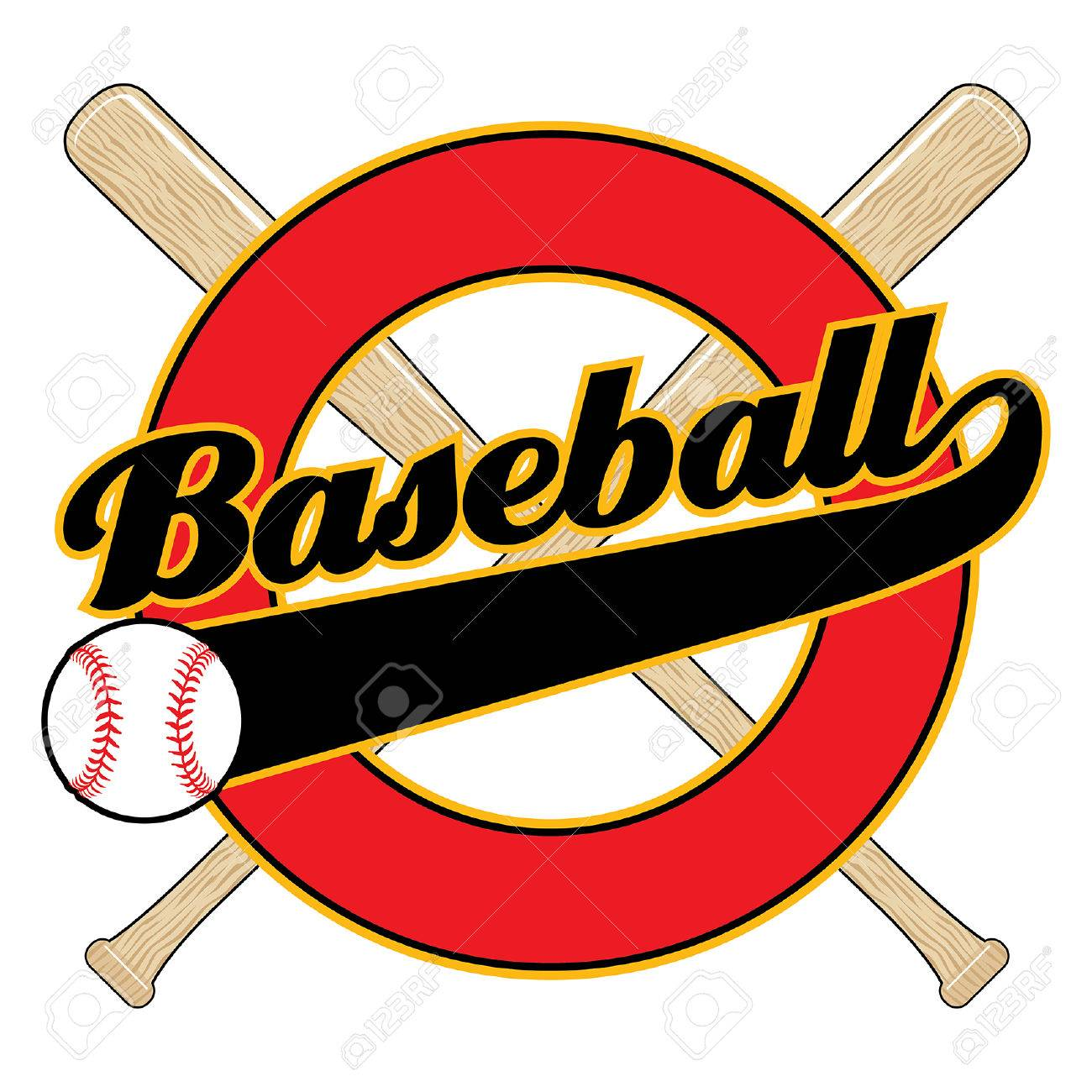 baseball with tail banner is an illustration of a baseball design rh 123rf com Baseball Bat Grip Baseball Bat Grip