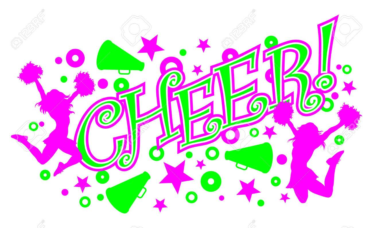 127 cheerleader megaphone stock vector illustration and royalty free cheer is an illustration of a vibrant pink and green cheer design with text two thecheapjerseys Images