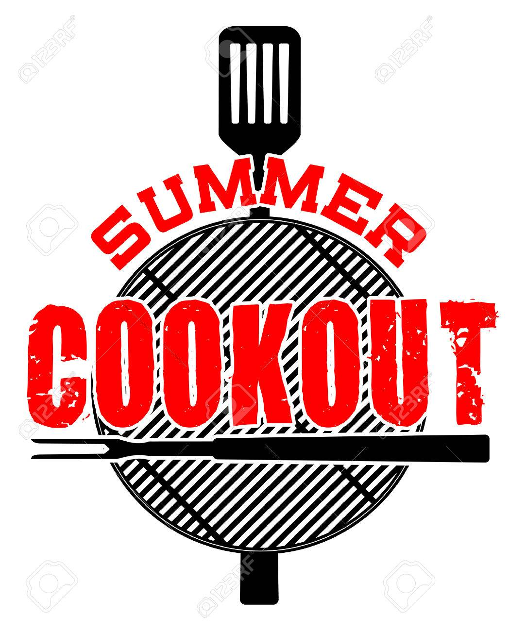 summer cookout is an illustration of a cookout or barbecue design