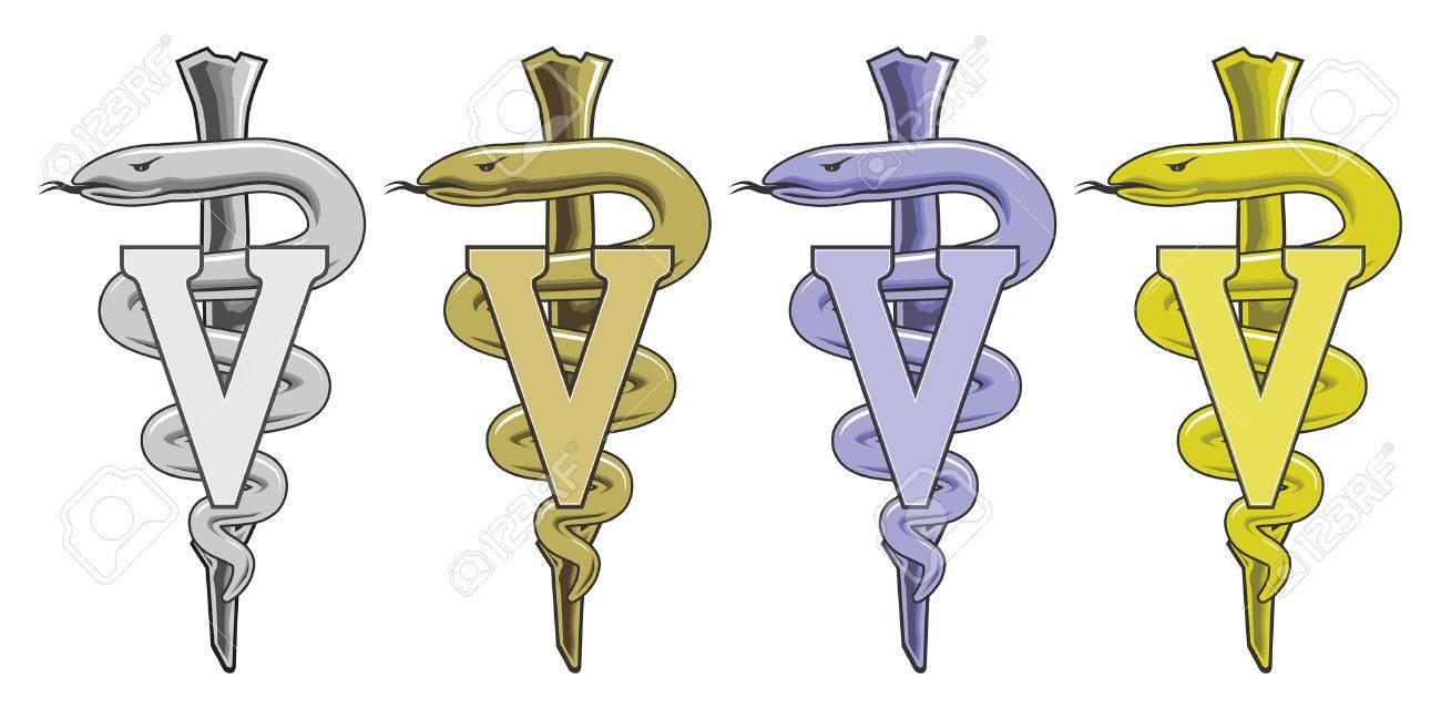 Símbolo Médico - Veterinario Es Una Ilustración Del Símbolo De La ...