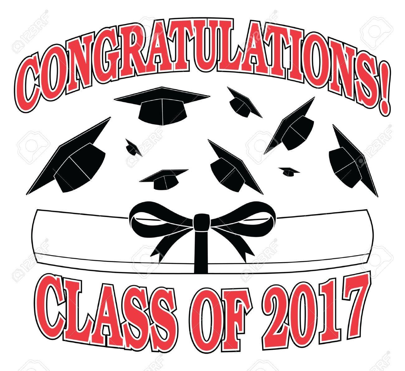 Glückwunsch Klasse Von 2017 Ist Ein Beispiel Für Ein Graduierung ...