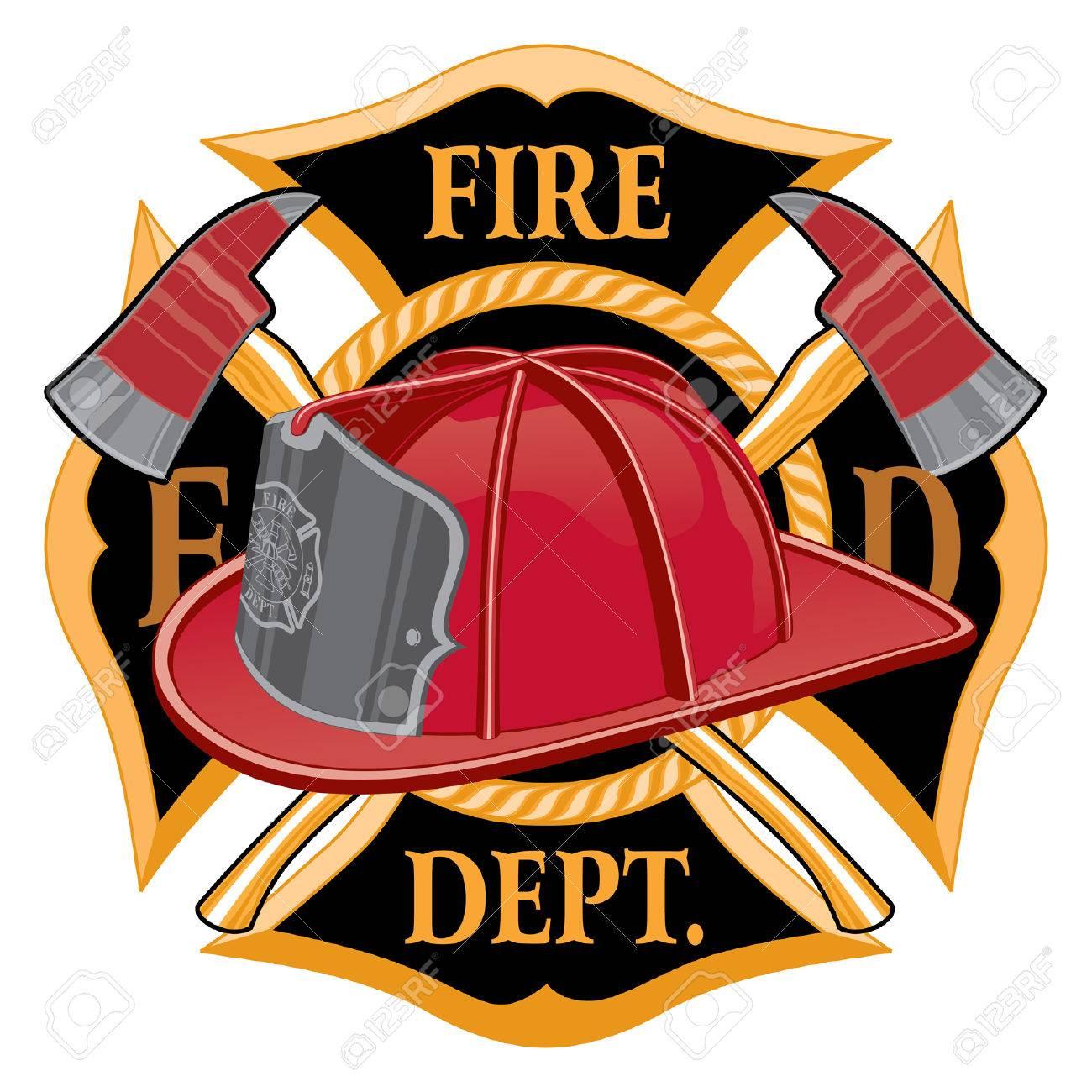 fire department cross symbol is an illustration of a fireman rh 123rf com firefighter logo sunglasses firefighter logo maker