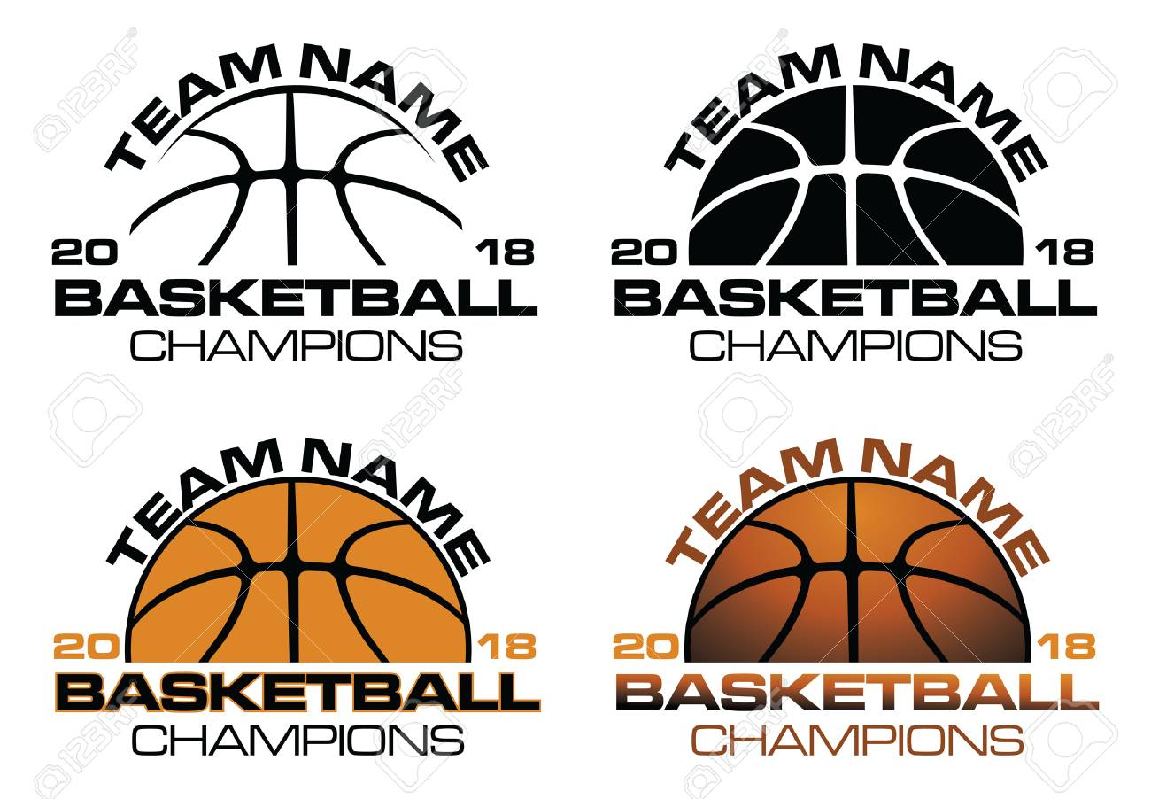 Basketball Champions Designs With Team Name is an illustration