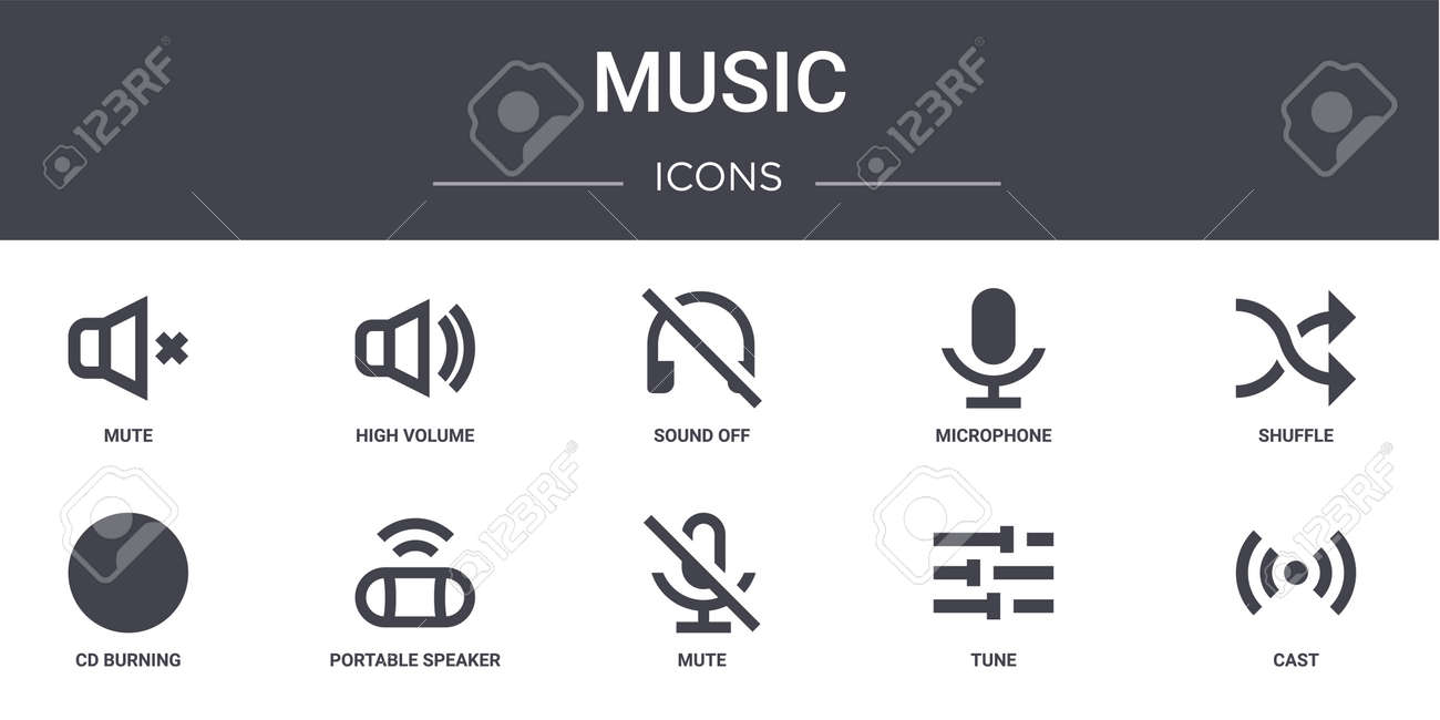 set of 10 music concept line icons. - 152976782