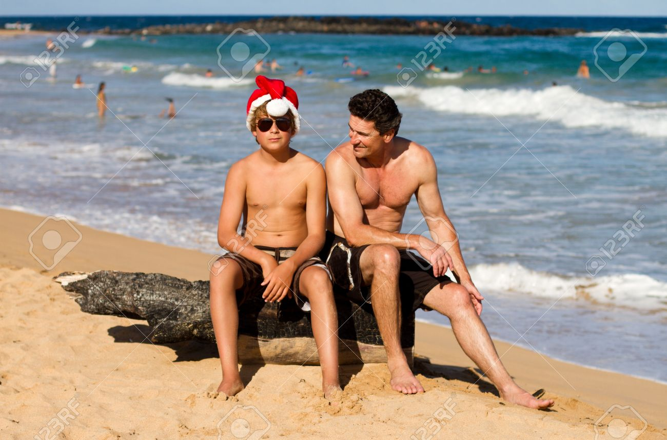 Junge teens am strand