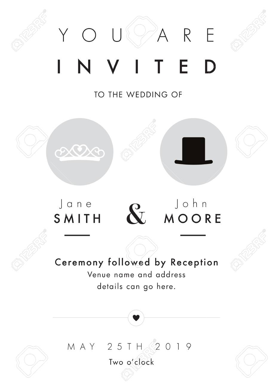 Mr And Mrs Theme - Wedding Invitation Royalty Free Cliparts, Vectors ...