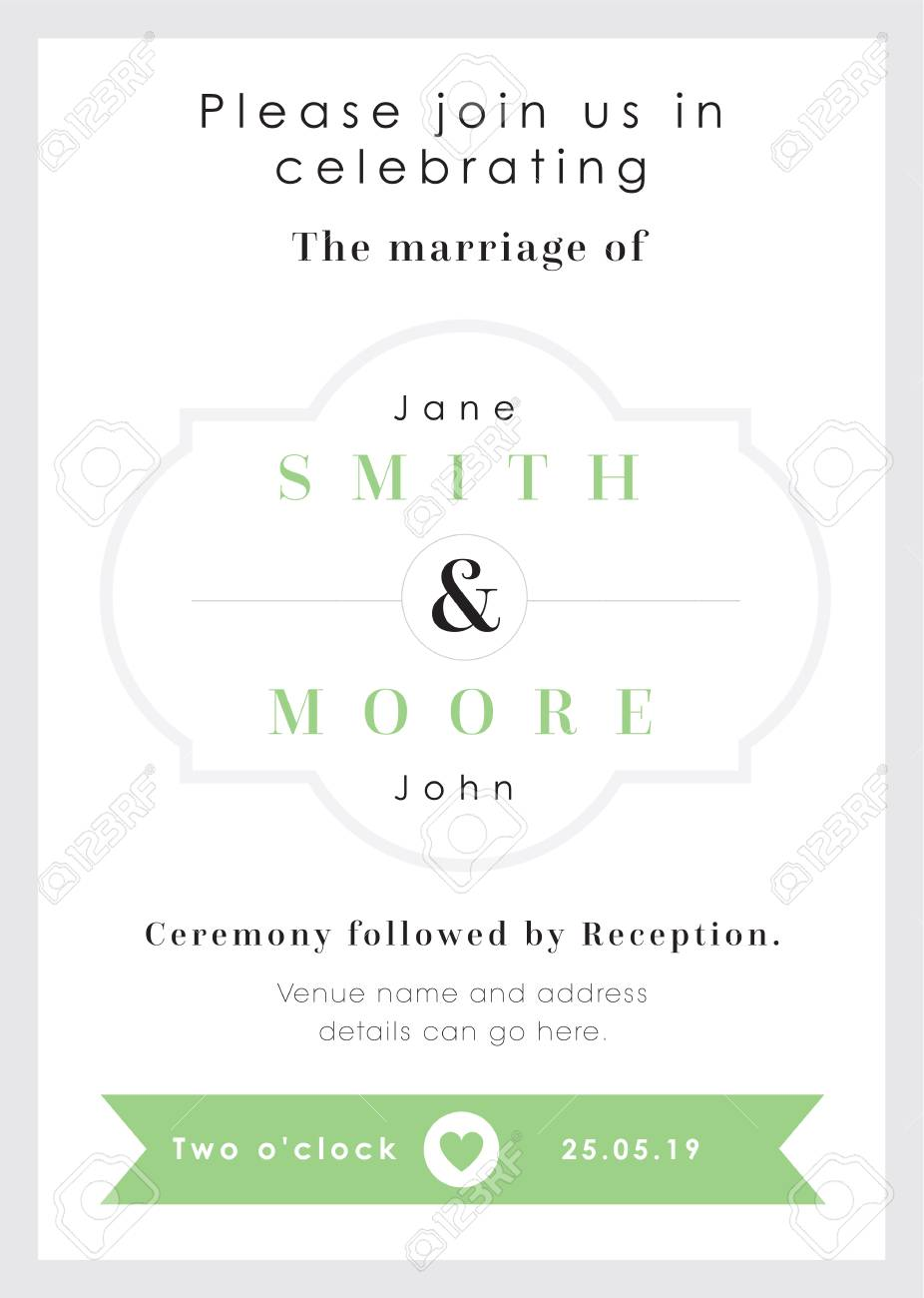 Green Heart Theme - Wedding Invitation Royalty Free Cliparts ...