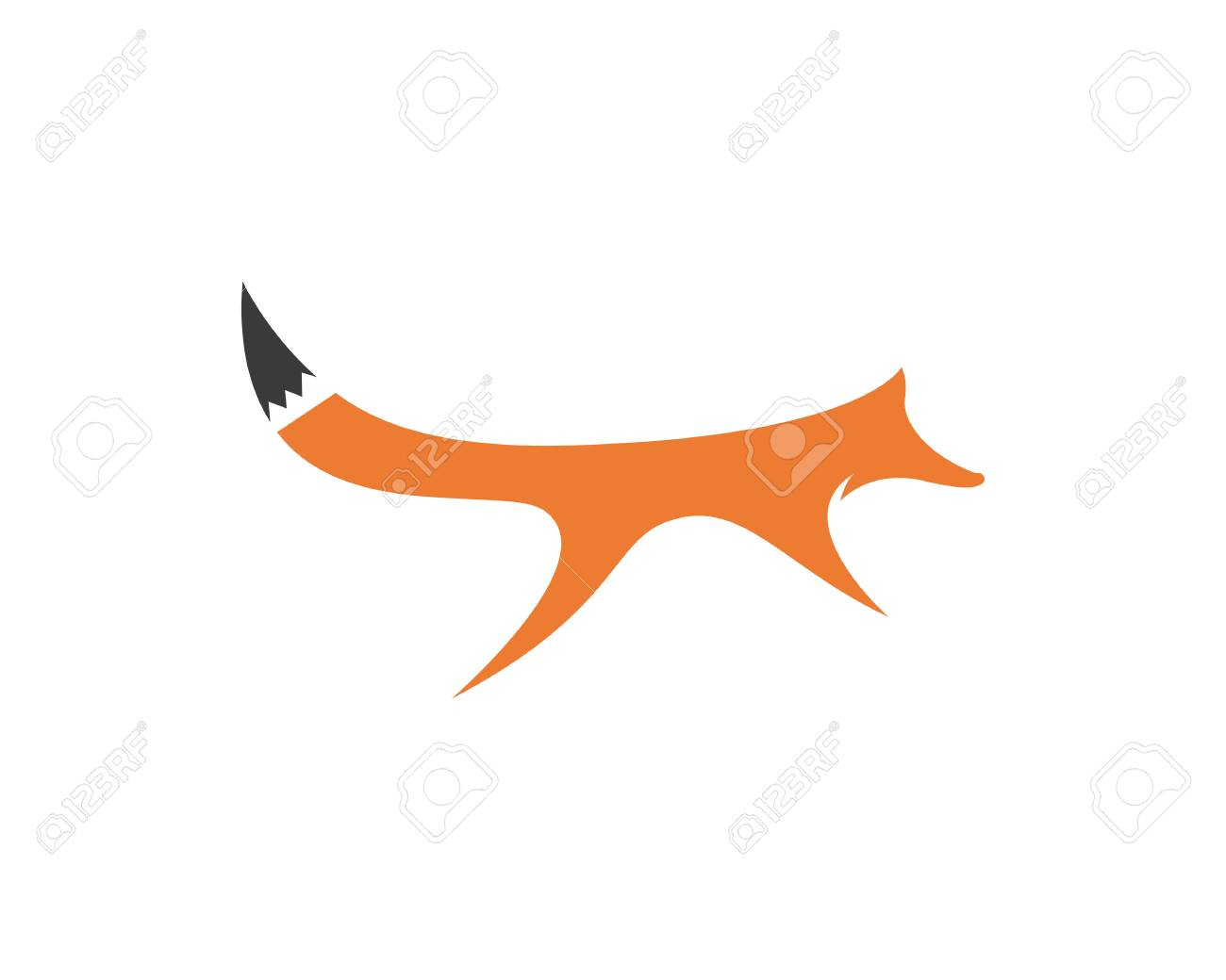 Fox Template | Fox Logo Vector Ilustration Template Lizenzfrei Nutzbare