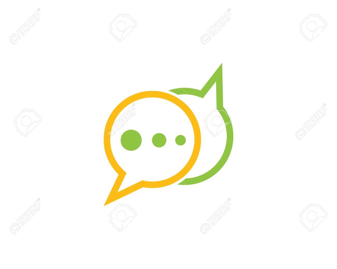 2351e8d6962558 Speech bubble icon Logo template vector illustration Stock Vector -  111606565