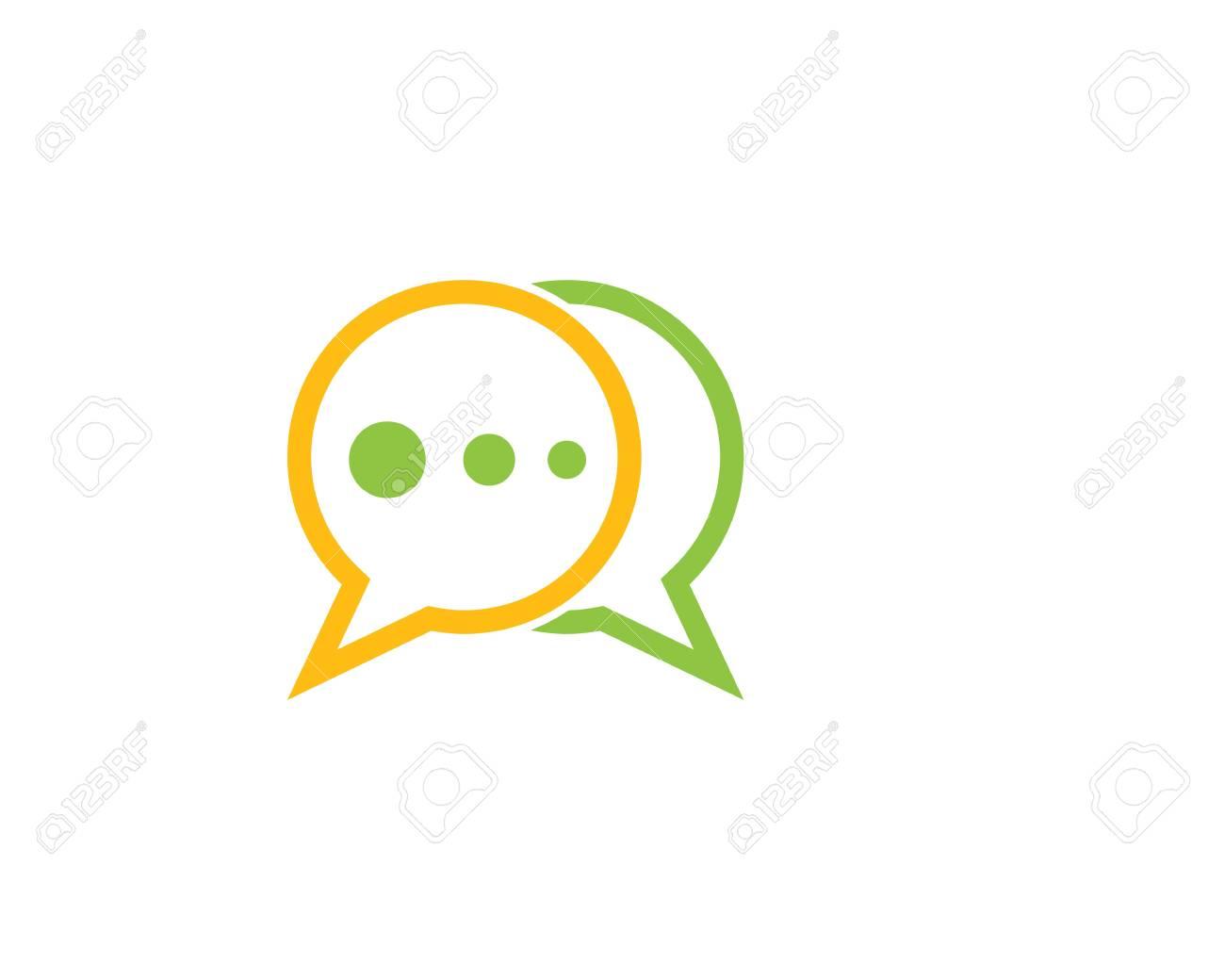 a740c5a63ad20b Speech bubble icon Logo template vector illustration Stock Vector -  111606567