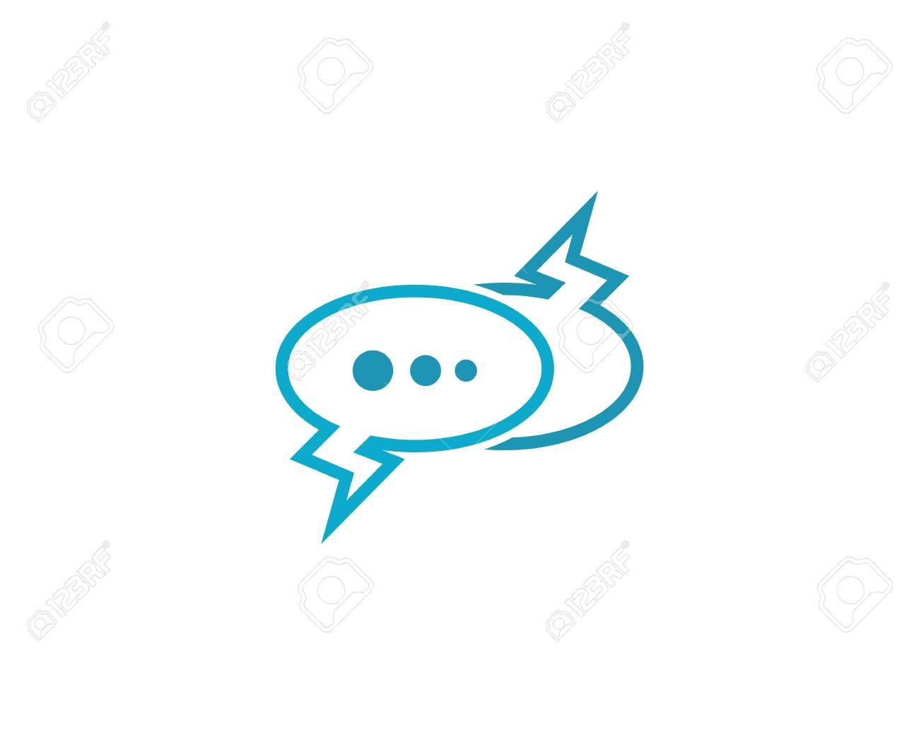 4882b6d394f1a5 Speech bubble icon Logo template vector illustration Stock Vector -  111606575