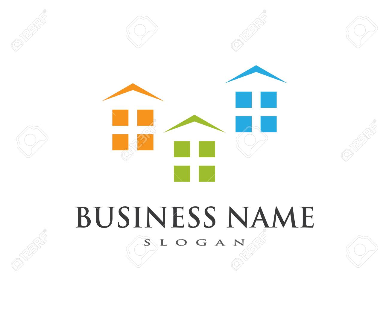 Property And Construction Logo Design For Business Corporate