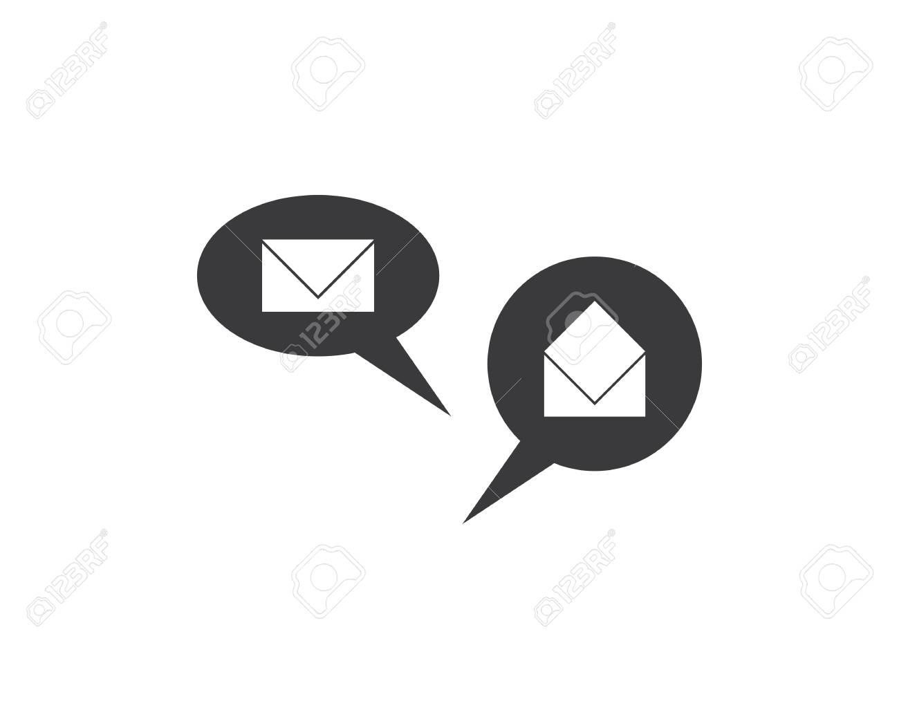 537ed6c2f82aaf Speech bubble icon Logo template vector illustration Stock Vector -  113400588