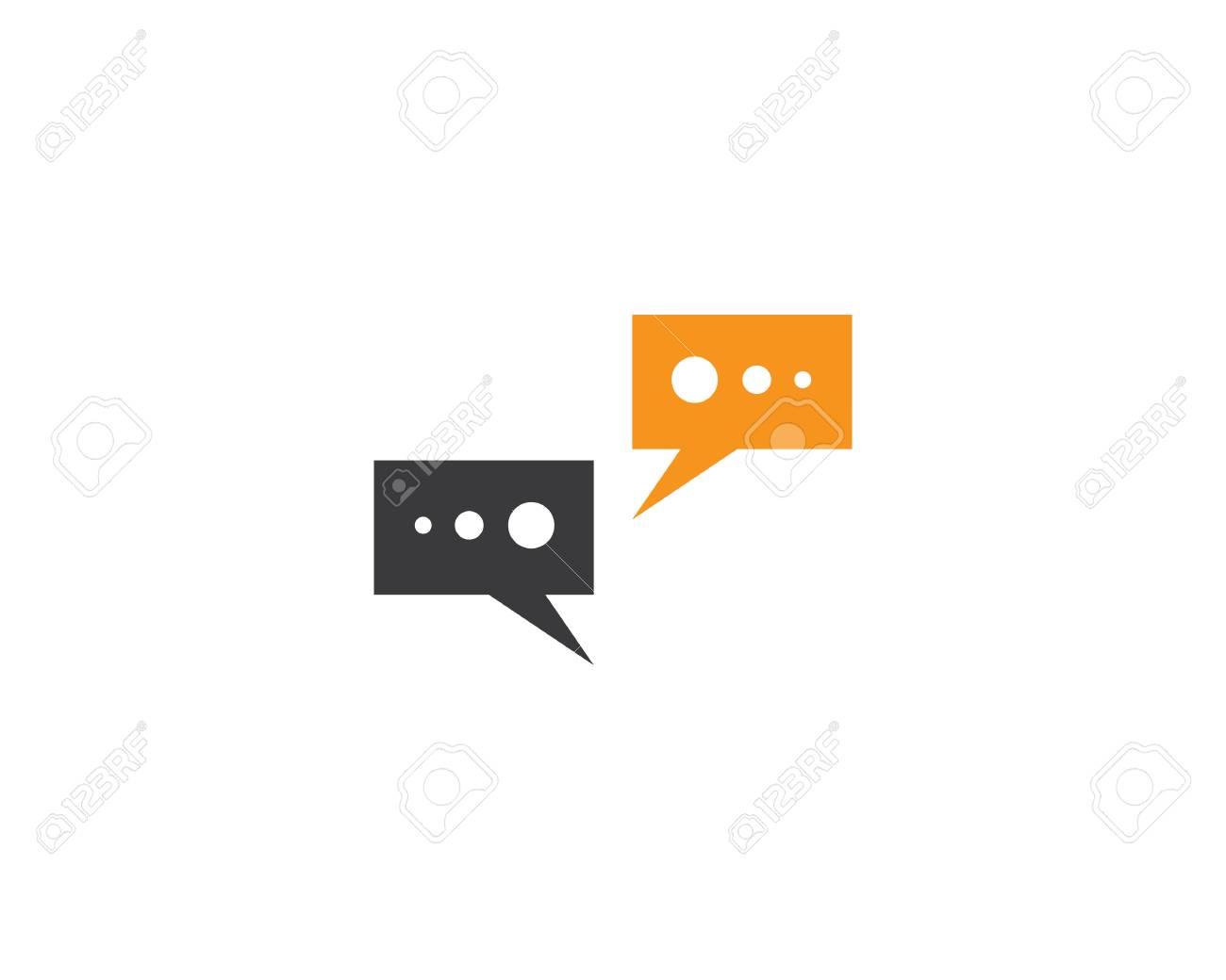 caf9191d08681f Speech bubble icon Logo template vector illustration Stock Vector -  113400593