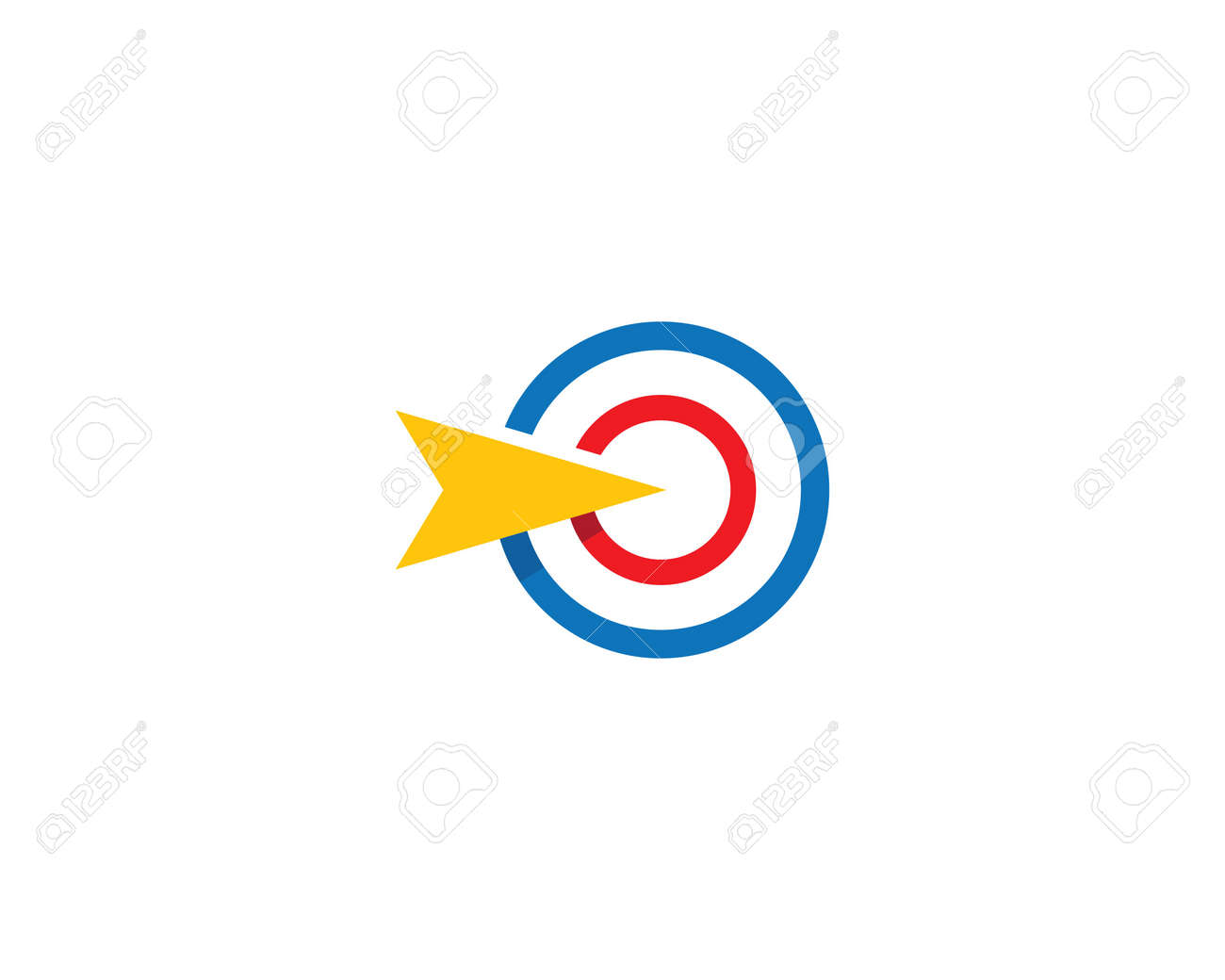Target icon vector illustration template - 153625185