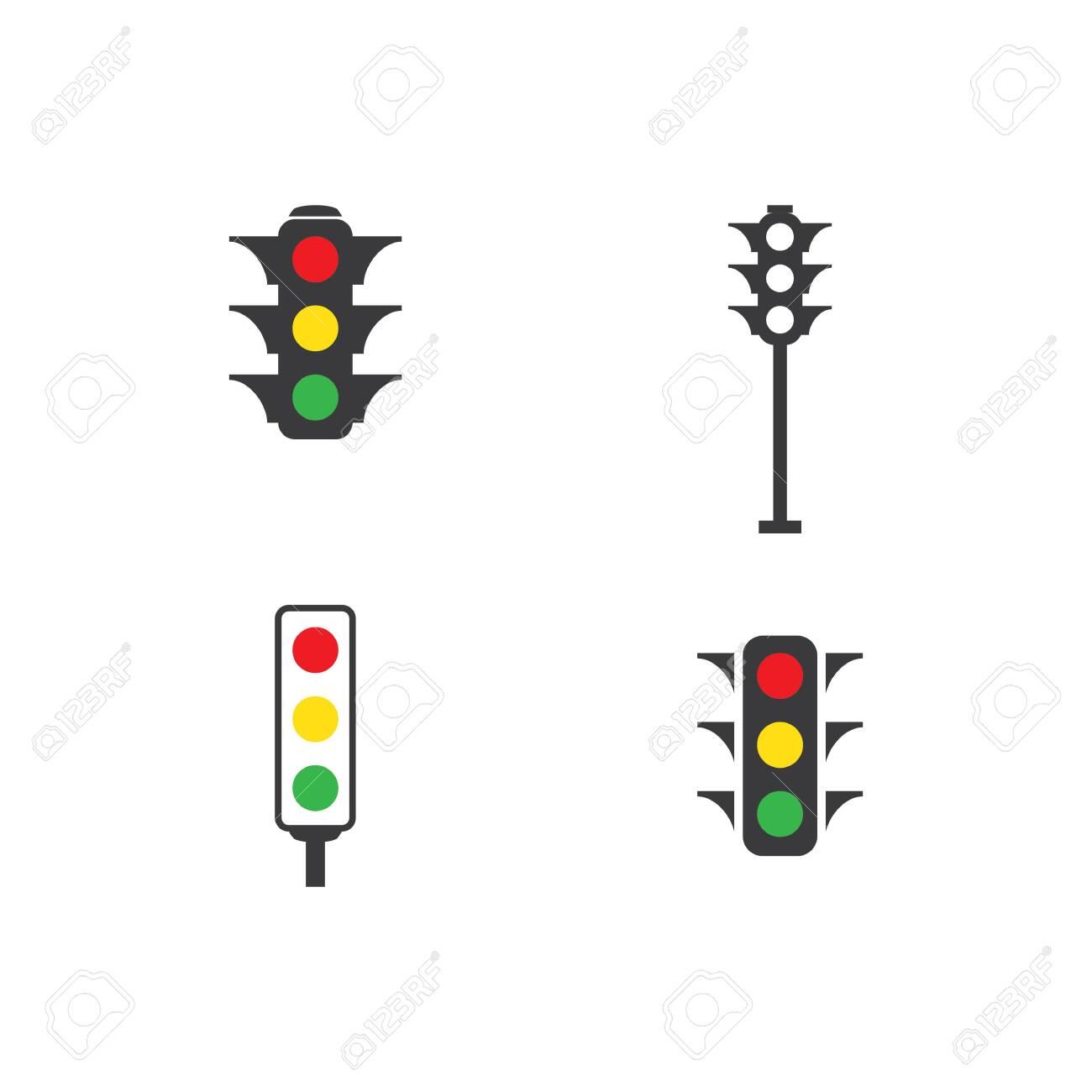 Traffic lights icon vector design - 154100894