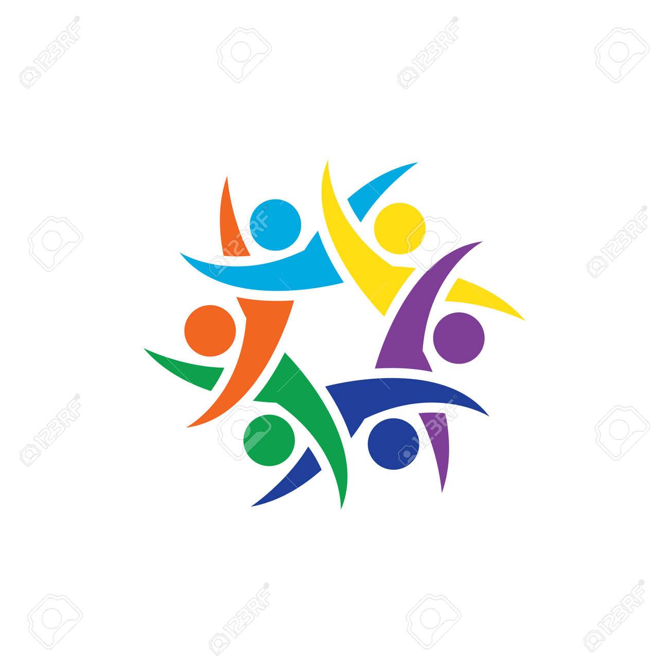 Community, network and social logo design - 158393962