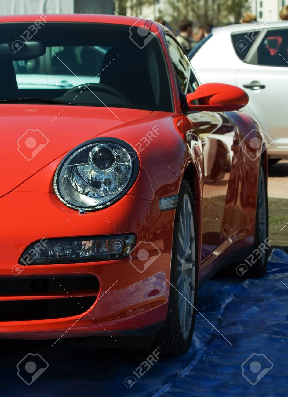 The red sports automobile. Stock Photo - 2341193