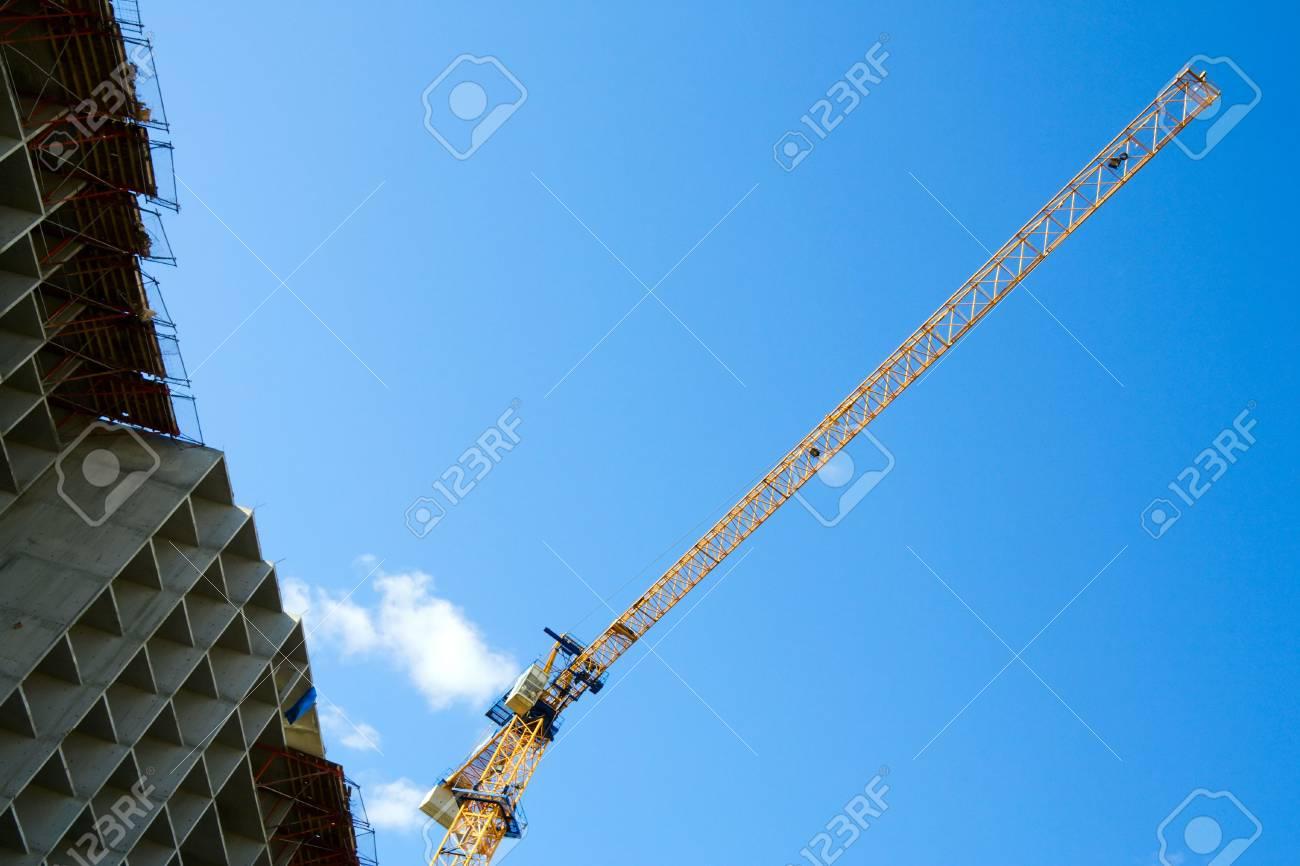 Crane on the costruction. Stock Photo - 4997785