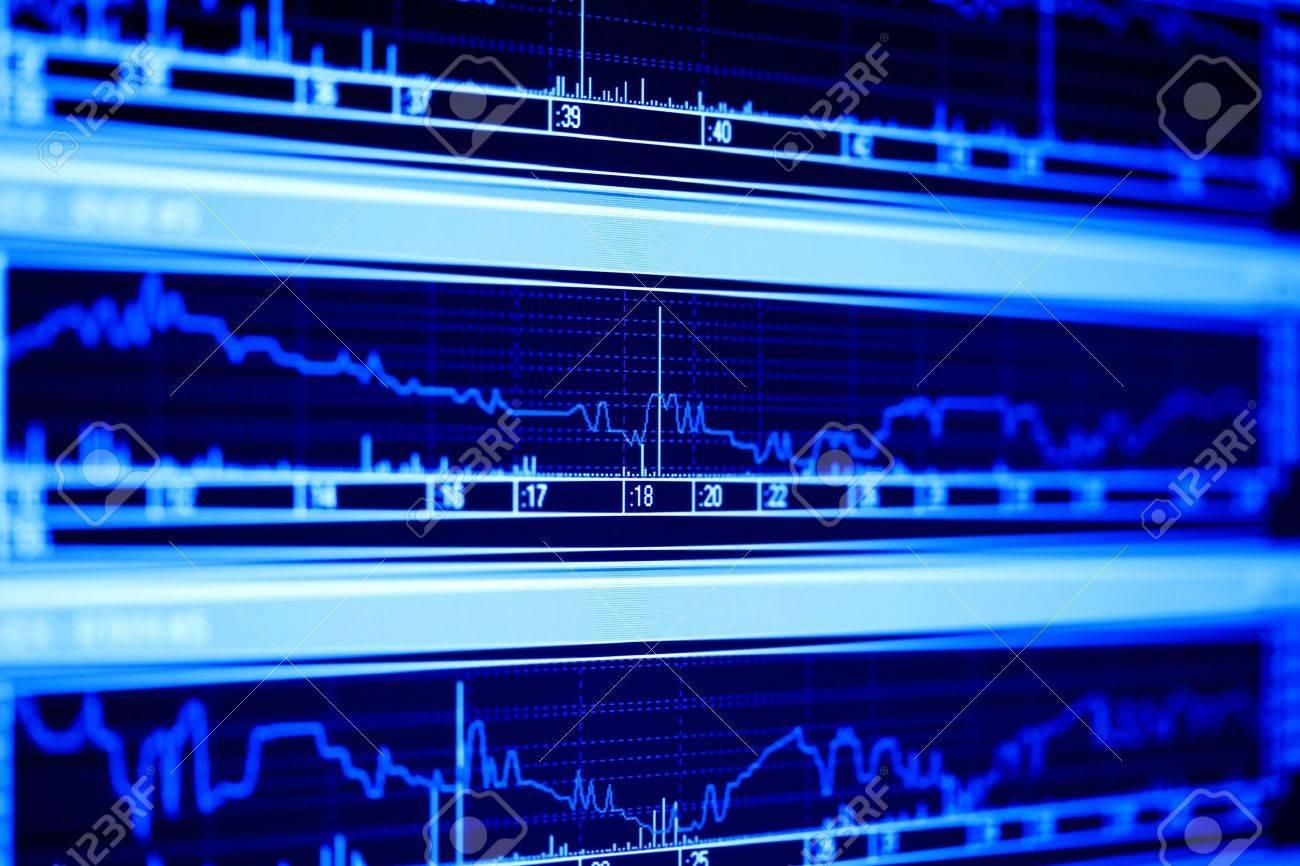 Stock market dynamics on the lcd monitor. Stock Photo - 5123019