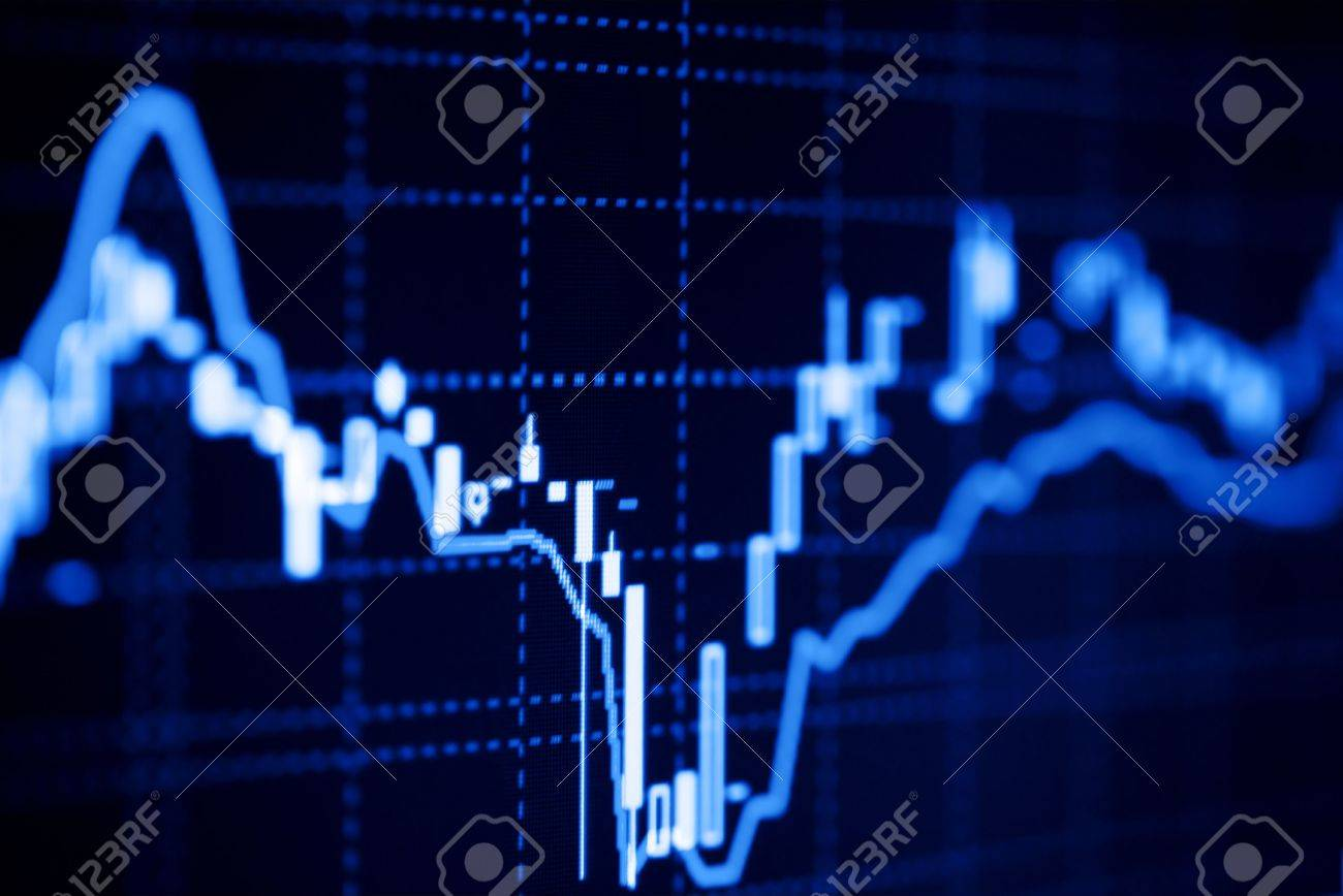 Stock market graphs on the lcd monitor. Stock Photo - 6399502