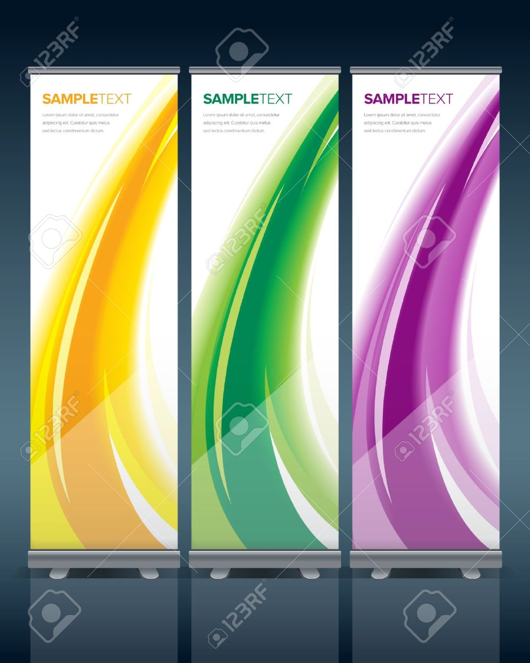Abstract Bunting Design Template With Ready Made Stand Royalty Free