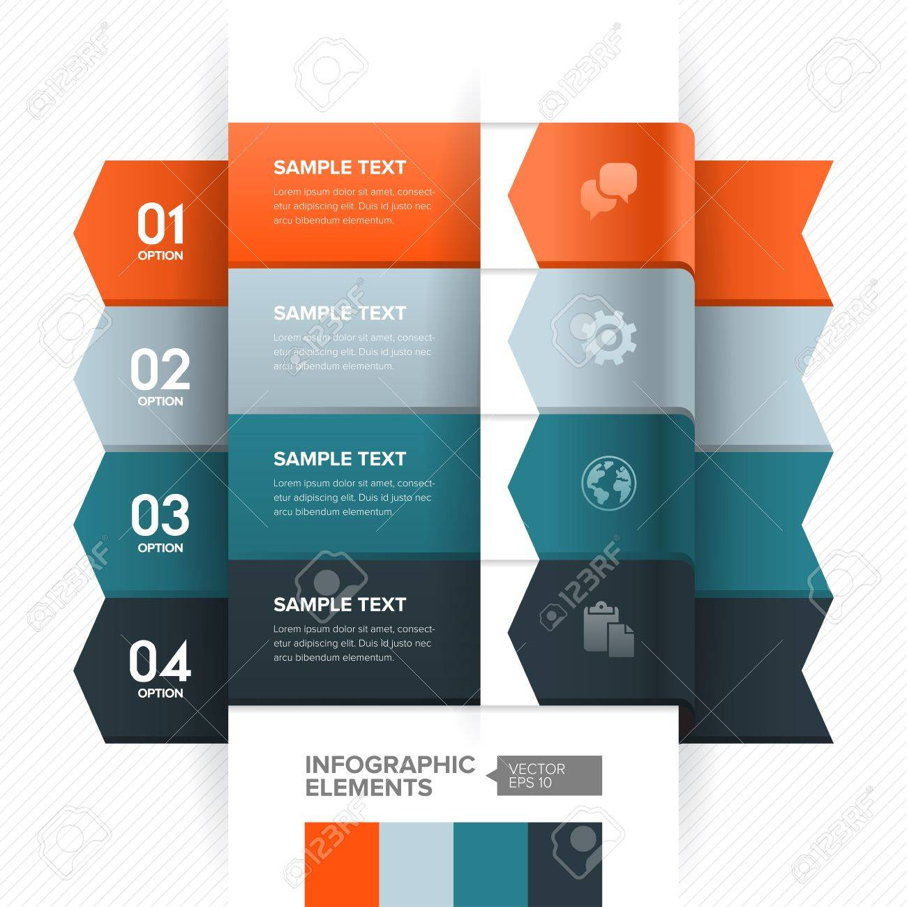 numbered banner design template modern business style for numbered banner design template modern business style for info graphic website advertisement