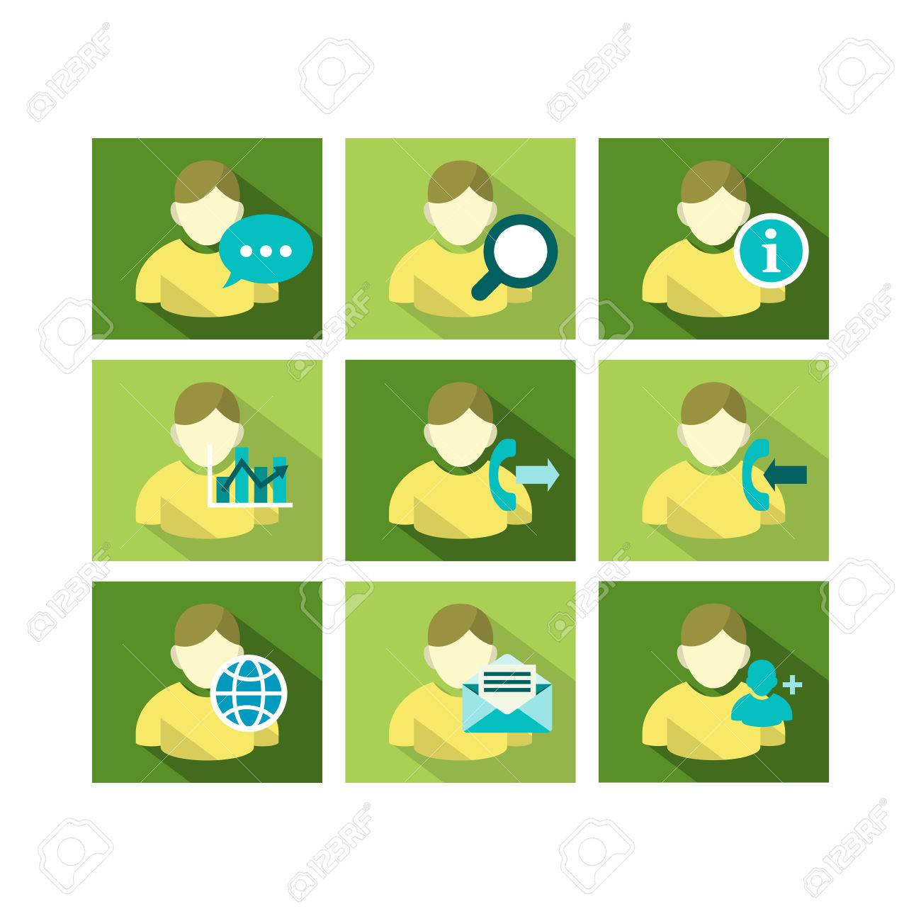 a set of flat icon design of user account technology with multiple functions stock vector - Account Technology