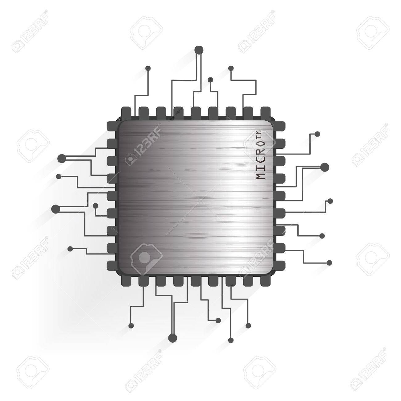 Circuito Transistor : Un diagrama esquemático del circuito el transistor electrónico