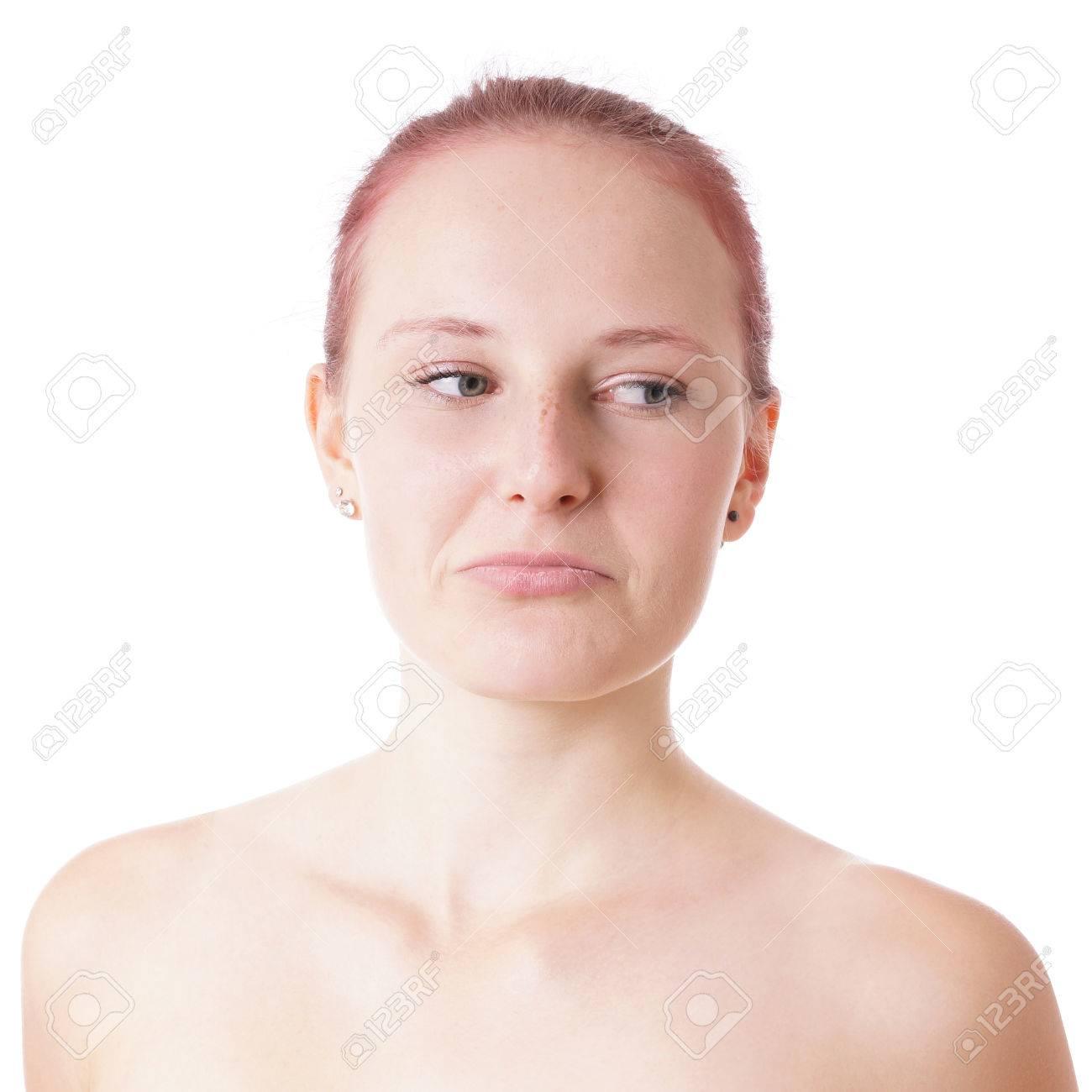 Beauiful Gefuhl Der Jungen Frau Emotional Und Ein Trauriges Gesicht