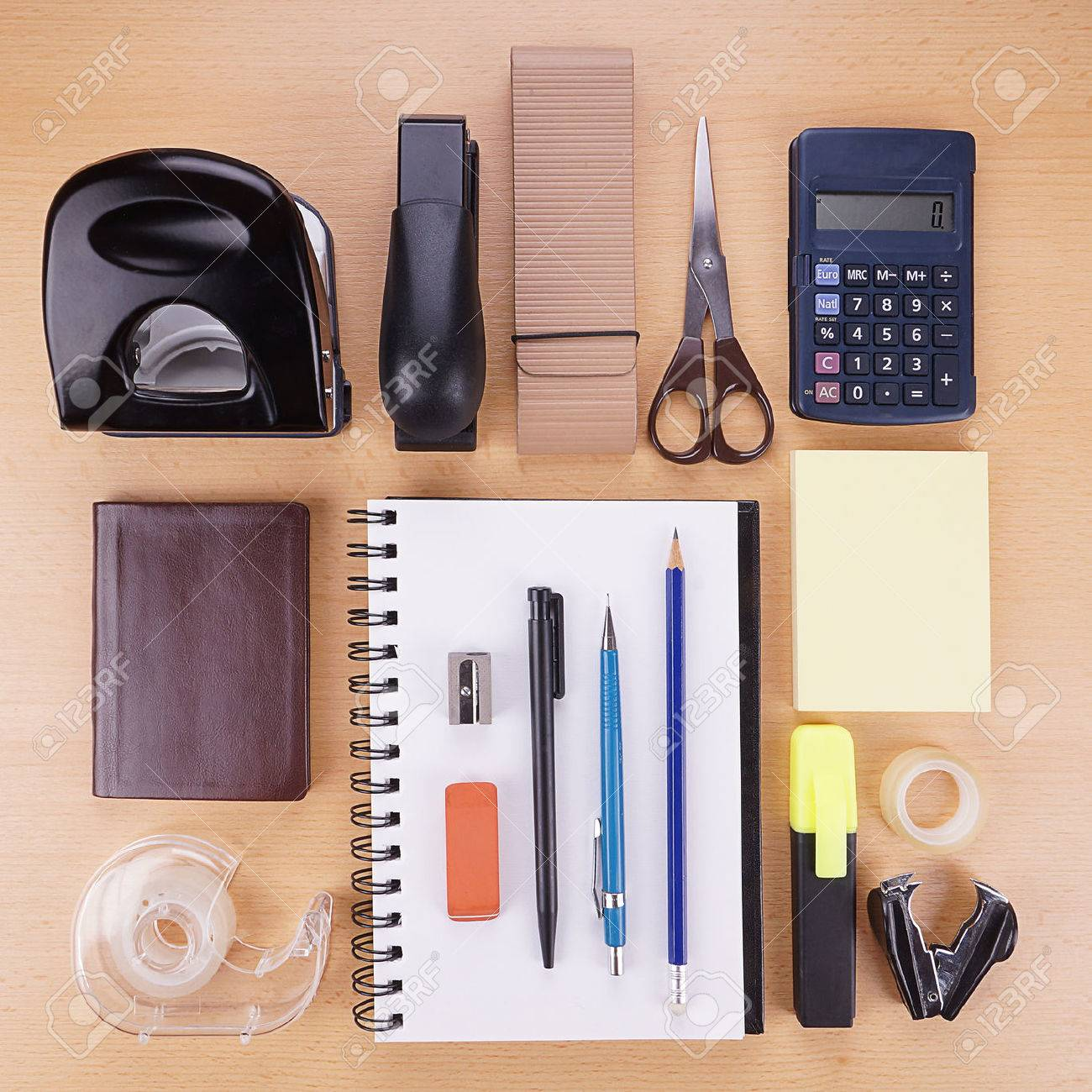 collection of miscellaneous stationery supplies and writing material - 33599710