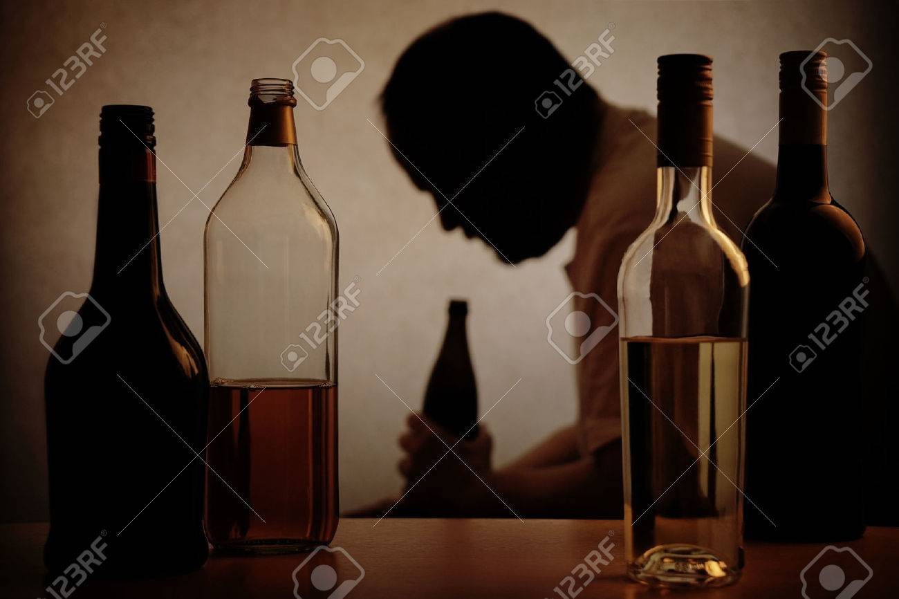 A Person Drinking Alcohol