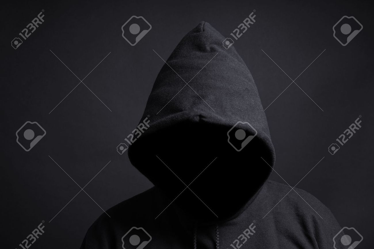 Faceless Person Wearing Black Hoodie Hiding Face In Shadow Stock Photo Picture And Royalty Free Image Image 38570331 [ 866 x 1300 Pixel ]