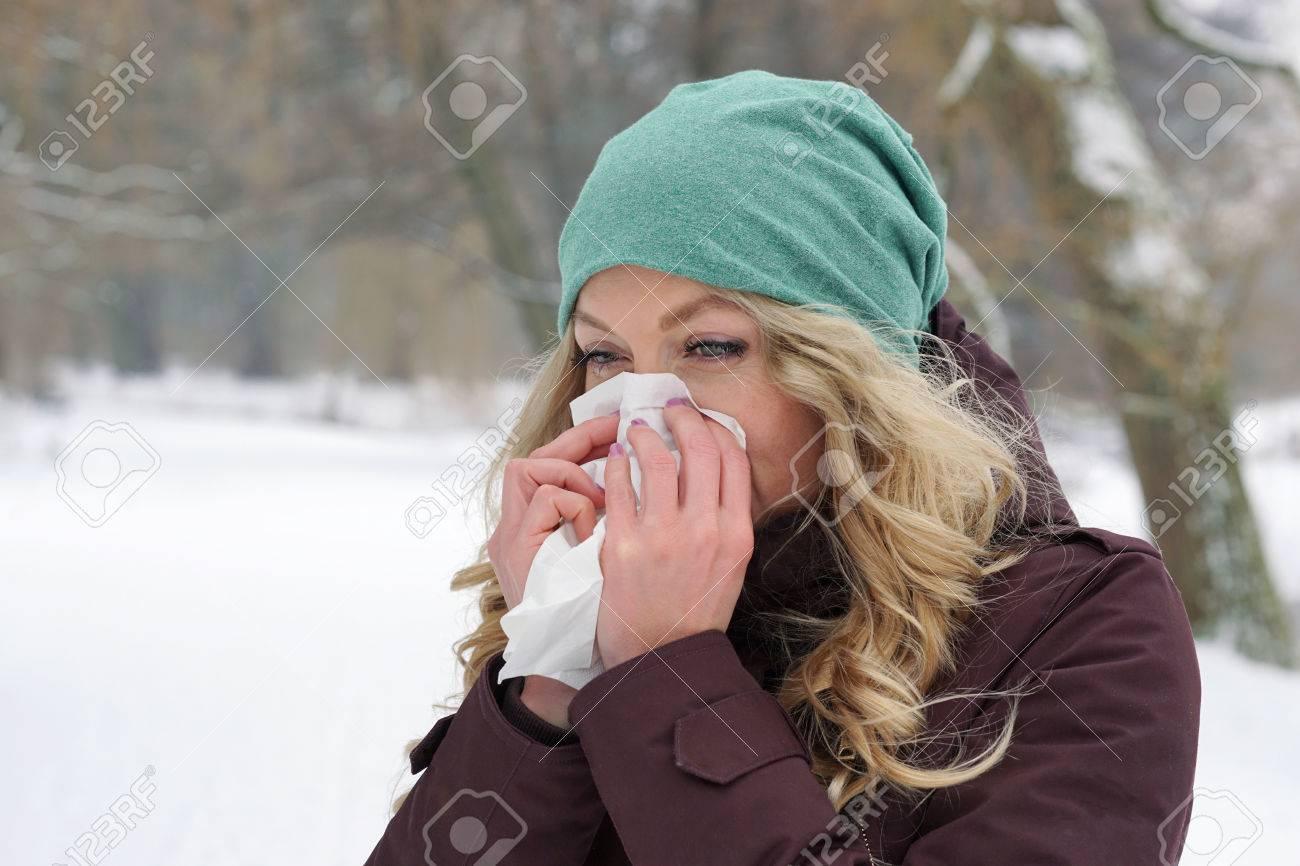 Nariz tapada aire frío