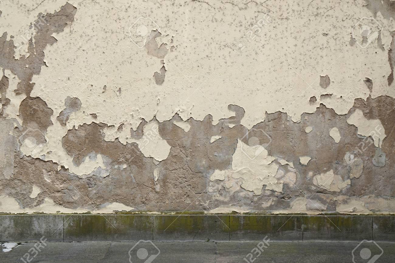 Extérieur Fond Mur Grunge Avec De La Peinture Se Décolle