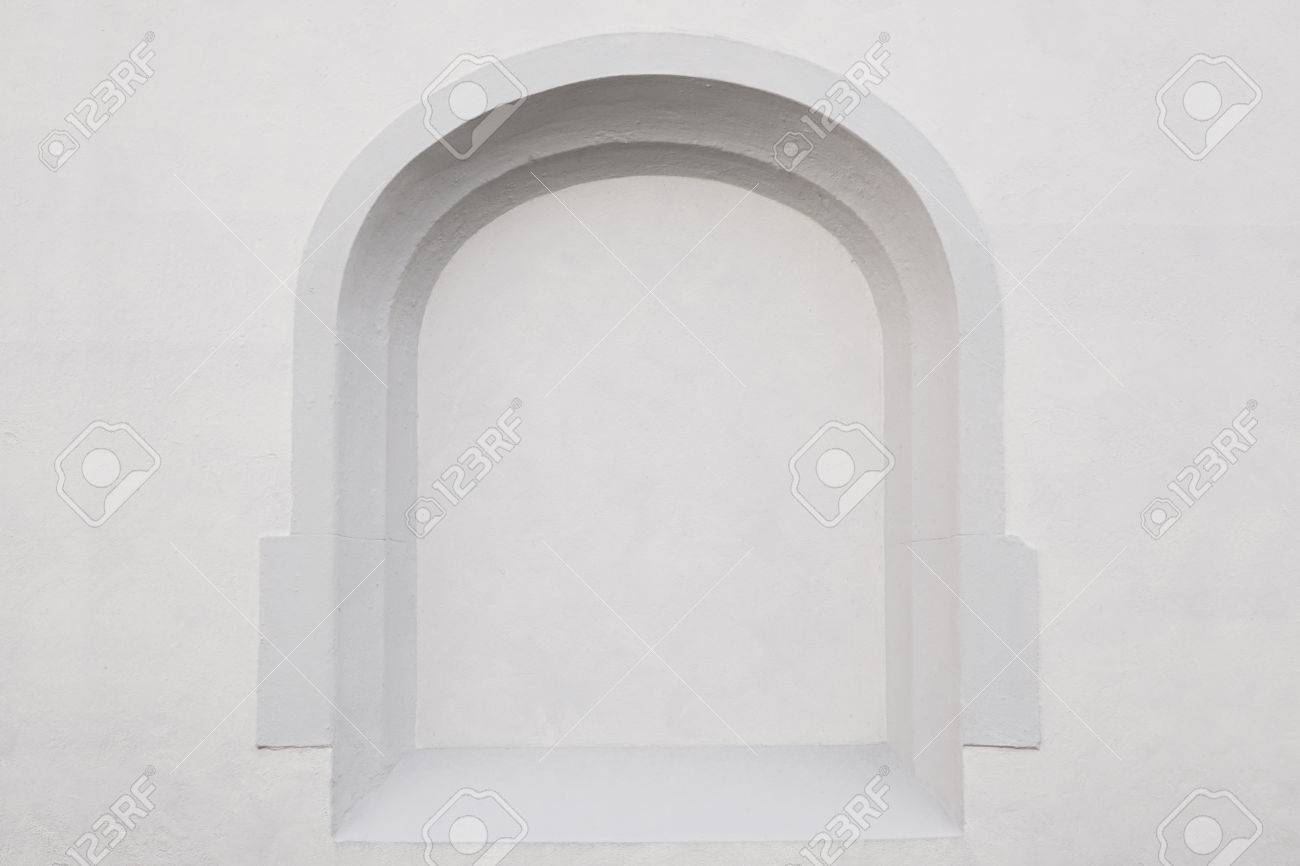 Exterior Wall With Empty Alcove Frame. Background With Copy Space ...