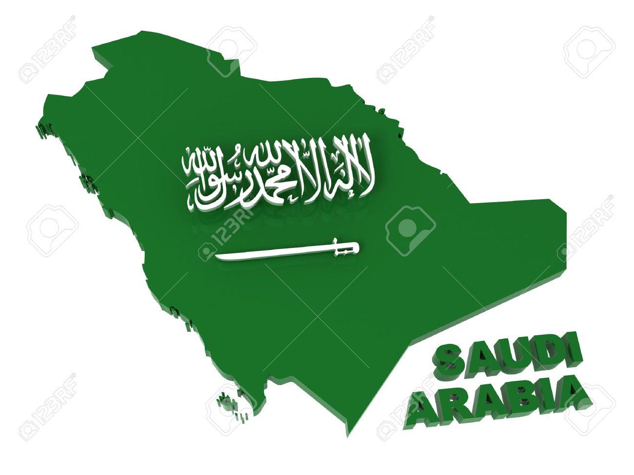 Saudi Arabia Map Flag Saudi Arabia Map With Flag