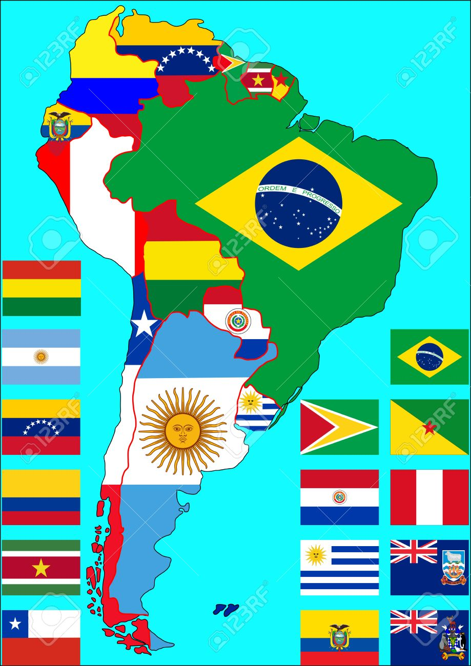 where is south america south america maps mapsofnet political map
