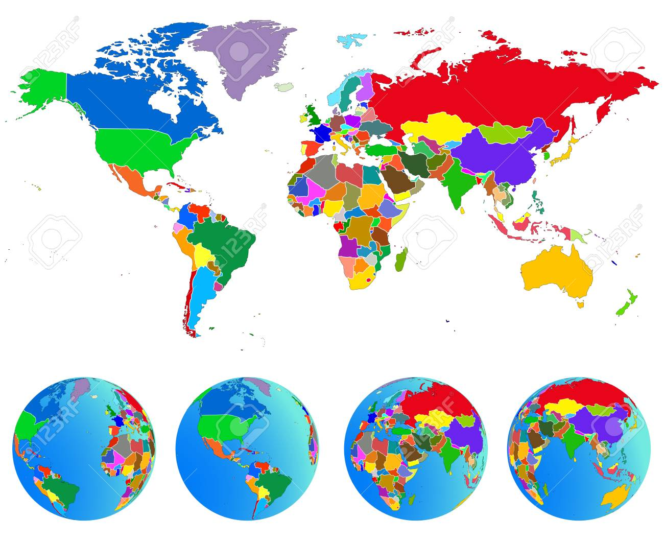 World map globes with countries planet earth vector illustration vector world map globes with countries planet earth vector illustration isolated on white background gumiabroncs Image collections