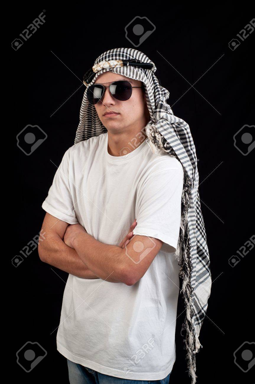 young arab with sunglasses Stock Photo - 18575520