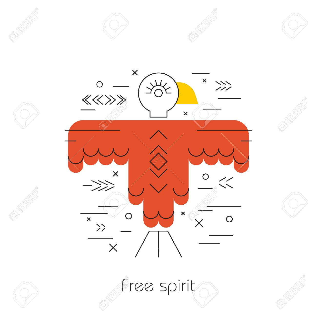 Native american vector element concept tribal line design indian eagle native american vector element concept tribal line design indian symbol set isolated culture biocorpaavc Gallery