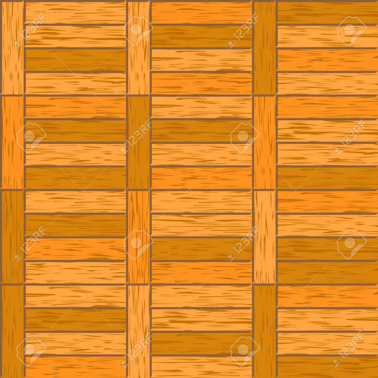 Abstrait Décoratif Vieux Parquet Texturé Plancher Vecteur Carrelage Sans Couture Illustration De Matériau De Bois Franc De Parquet