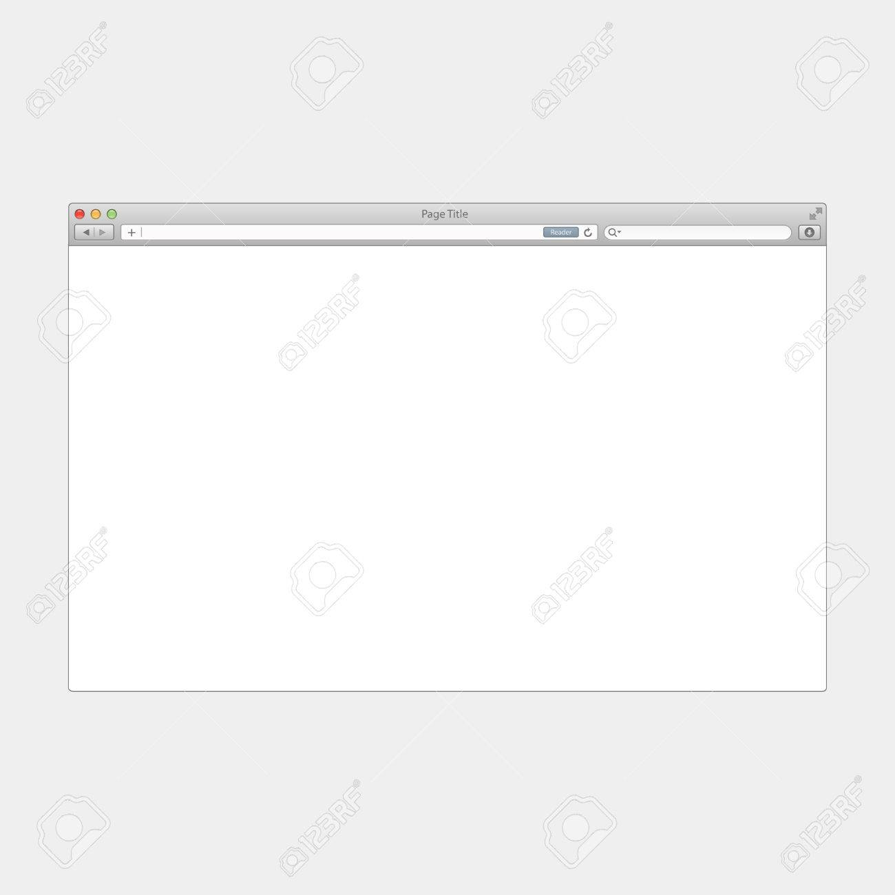 browser template window browser window vector web browser