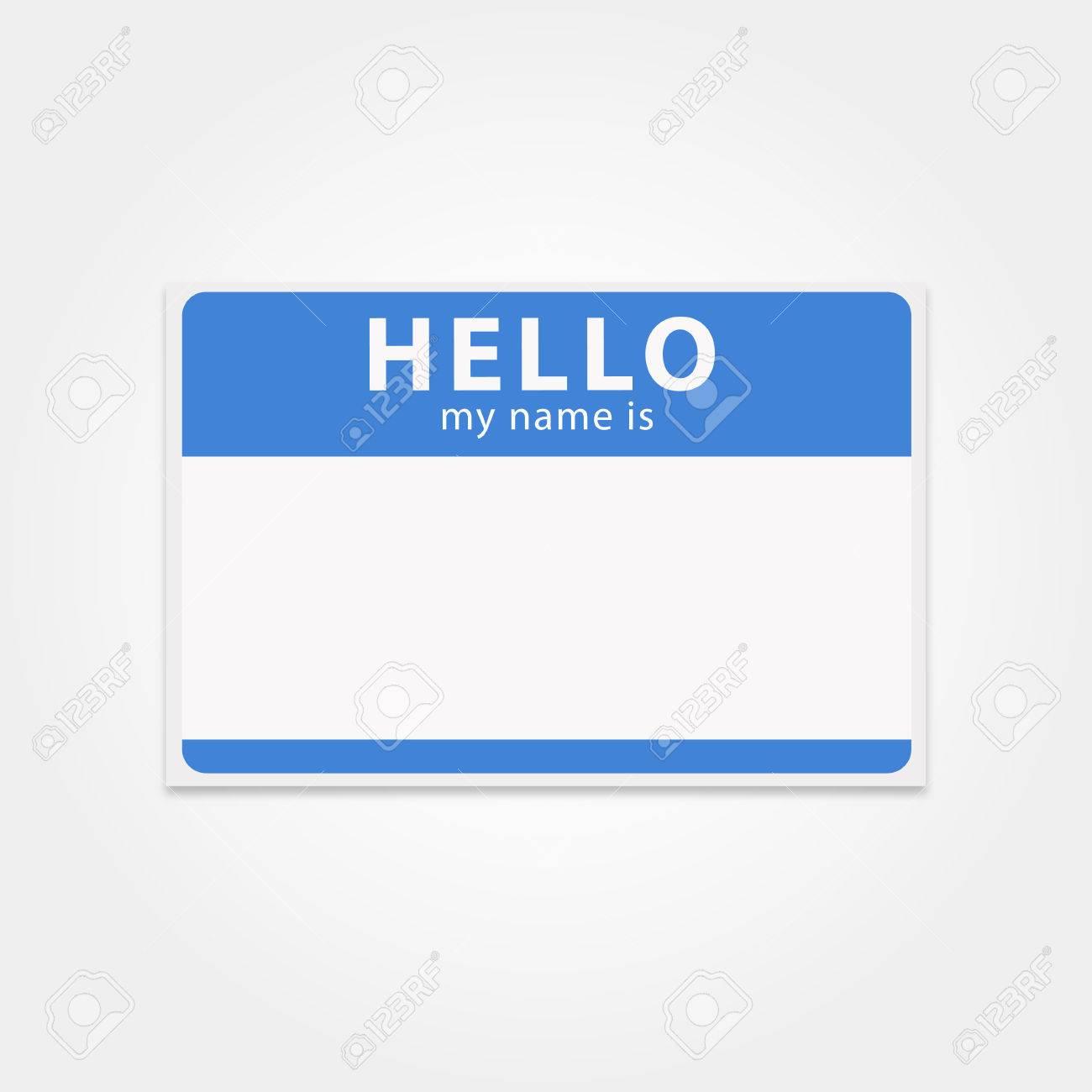Etiqueta De Plantilla En Blanco Mi Nombre Es. Tarjeta De ...