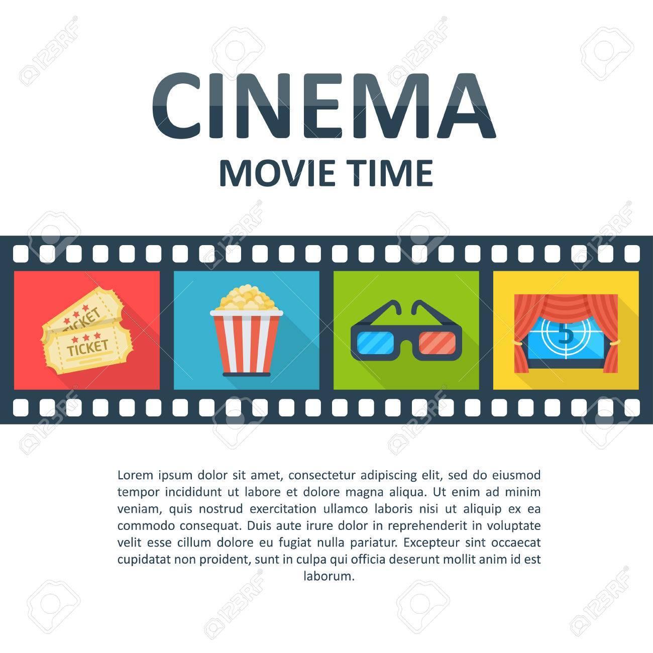 Kino Hintergrund Vorlage. Filmzeitplakat, Karten, Theaterstandorte ...
