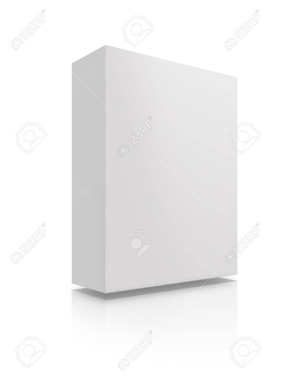 Blank box with reflection and shadows on a white background. Stock Photo - 8418601