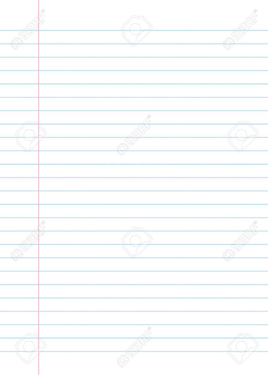 Blank Gesäumt Papier Textur Aus Einem Notebook Oder Notizblock. Groß ...