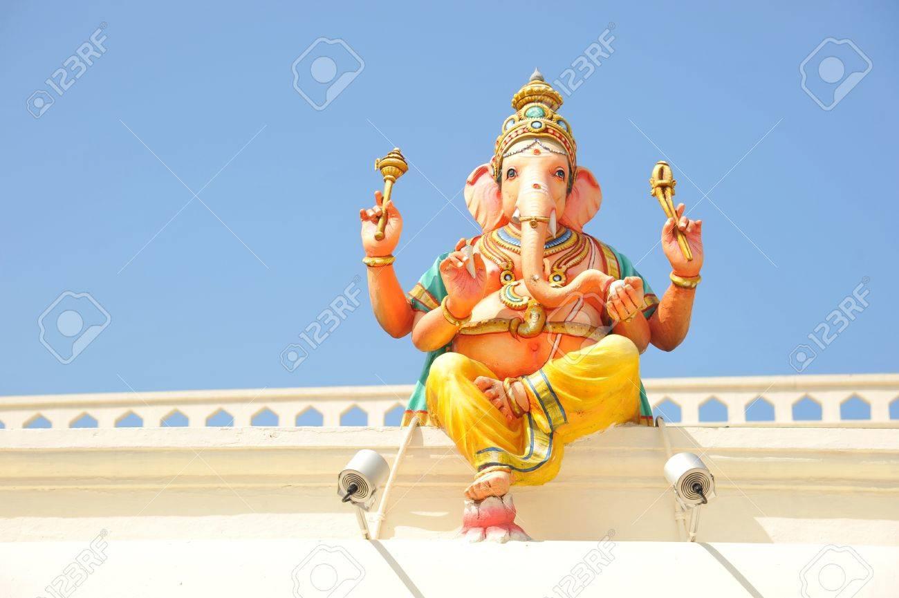 Hindu God Ganesha Sitting On The Wall Stock Photo - 10766128