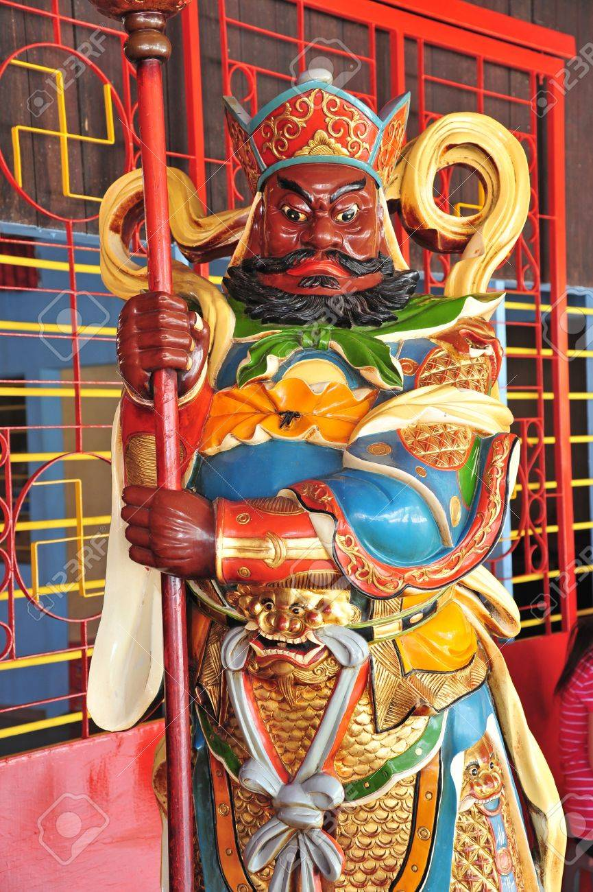 Statue Of Door God At A Chinese Temple Stock Photo - 12808879 & Statue Of Door God At A Chinese Temple Stock Photo Picture And ...